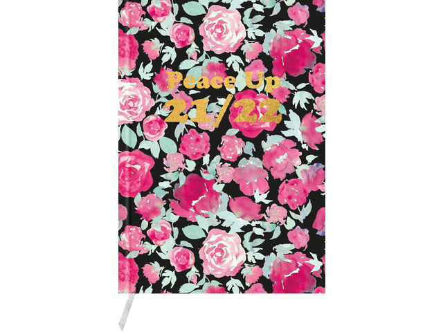 8712127069014 - Pink mint retro schoolagenda 2021 - 2022