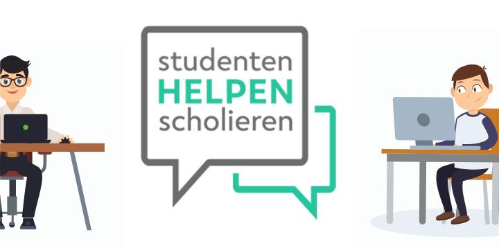 Studenten helpen scholieren